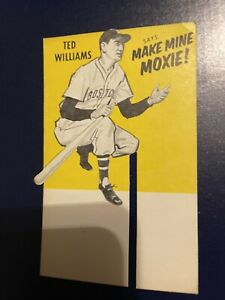 Ted Williams Moxie Ad Card From 6 Pack