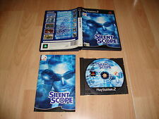 SILENT SCOPE 1 DE KONAMI PARA LA SONY SONY PLAY STATION 2  PS2 USADO COMPLETO