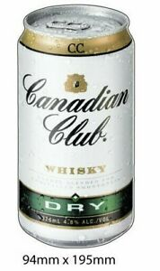 Canadian Club can  Decal, Car Sticker, man cave sticker ,fridge  bumper sticker