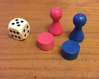 Battle Of The Sexes Board Game Replacement Wooden Pieces And Dice B219