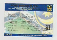 Portsmouth V INTER MILAN 2005 PRE SEASON AMICHEVOLE biglietto originale buone condizioni