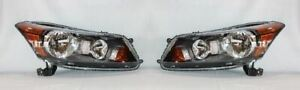 Right and Left Side Replacement Headlight PAIR For 2008-2012 Honda Accord Sedan