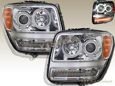 2007-2011 Dodge Nitro CCFL Halo Projector LED Headlights Chrome Clear