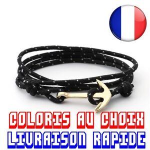 Bracelet Anchor Gold Marine Sailor Adjustable Man Woman Idea Gift Curb