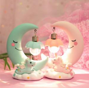 Creative Girl Heart Unicorn Moon Dream Night Light
