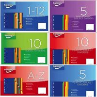 *OFFER* A4 Packs of  Strong Tabbed Index Subject File Dividers - FULL RANGE!