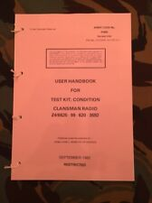 BRITISH ARMY CLANSMAN RADIO TEST SET USER HANDBOOK VHF 349 351 352 353