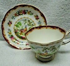 Royal Albert Chelsea Bird  Red  Highlights Cup and Saucer