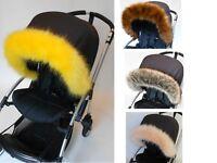Bugaboo cameleon donkey fox bee  pushchair/ pram Hood fur trim fit all models