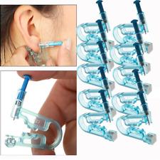 10 Kit Disposable Ear Piercing Pierce Gun Stud Tool Earring Kit Piercer Studs
