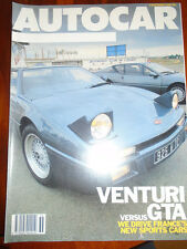 Autocar 3/9/86 Subaru 4WD 3 door turbo Coupe, MVS Venturi vs Renault GTA