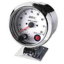 Sumex 90mm 12v Coche Cromado Rpm tacómetro Medidor Race Sport Dial-Cambio De Luz