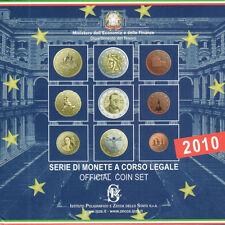 ITALIE  ITALIA  2010 Euro Officila BU KIt - 8 pieces  coins + 2 Euro CAVOUR BU