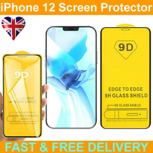 """9D Edge to Edge Tempered Glass Screen Protector For IPhone 12 Pro Max (6.7"""")"""