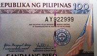 PHILIPPINES NOTE 100 PESO 2 DIGIT NUMBER 2010 ISSUED UNC
