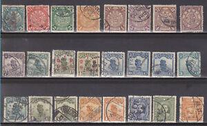 China ein gestempeltes Lot Imperial und Dschunken Briefmarken siehe Bild