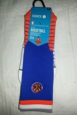 STANCE FUSION NBA BASKETBALL SOCKS NYK NEW YORK KNICKS LARGE 9-12 BLUE ORANGE