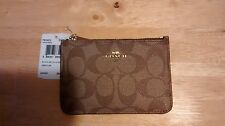 COACH KEY RING POUCH NWT BROWN/BROWN SIGNATURE
