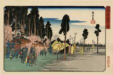 """Véritable Estampe Japonaise De Hiroshige """"Le Sanctuaire De Inari À Ôji"""""""
