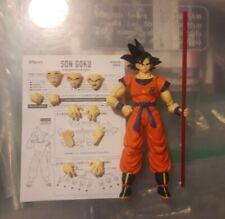 SH Figuarts Dragon Ball Z A Saiyan Raised On Earth Goku SDCC Power Pole Set