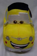 "Walt Disney Cars YELLOW LUIGI CAR 10"" STUFFED ANIMAL Toy NEW w/ TAG"