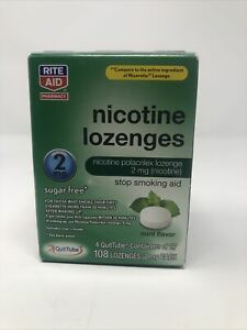 Rite Aid Nicotine Lozenges 2mg, 108 Mint Lozenges, Exp. 02/21