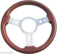 """13.5 """" CLASSIC CLASSICO woodrim volante per auto d'epoca con 3 raggi"""
