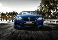 "BMW M6 F12 CABRIO NEW A4 CANVAS GICLEE ART PRINT POSTER 11.7"" x 8.3"""
