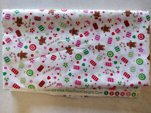 Lot 821 Riley Blake Designs, 1 Yard, Christmas Candy, Looks Like Quilting Cotton