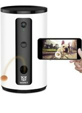 WOPET Pet Dog Treat Dispenser Camera, Full HD WiFi Camera with Night Vision for