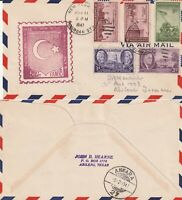 US 1947 FAM 18 FIRST FLIGHT FLOWN COVER NEW YORK TO ANKARA TURKEY