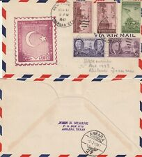 US 1947 FAM 18 FIRST FLIGHT FLOWN COVER NEW YORK TO ANKARA TURKEY