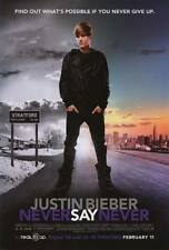 JUSTIN BIEBER NEVER SAY NEVER 27X41 AUTHENTIC DOUBLE SIDED THEATRE POSTER