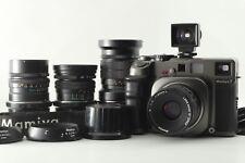 【MINT+++ + 4Lens】 Mamiya 7 Film Camera + 50mm 65mm 80mm 150mm From Japan #1813