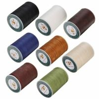 Waxed Thread 0.8mm 90m Polyester Cord Sewing Stitching Leather Craft Bracelet FS