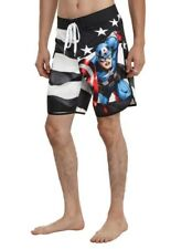 MARVEL CAPTAIN AMERICA MEN'S SWIM Suit TRUNKS SHORTS Small New With Tags