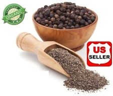 Grown Organic PREMIUM PEPPER PEPPERCORNS BLACK WHOLE/CRACK/POWDER INDIA 4OZ-5 LB