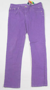 NWT JUSTICE GIRLS SIZE 14.5 JEANS SKINNY SIMPLY LOW DENIM PURPLE PANTS 14 1/2