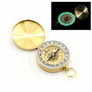 BUSSOLA magnetica da viaggio, Compass fluorescente, fosforescente Luminosa