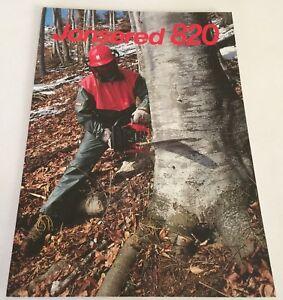 JONSEREDS 820 Chain Saw Original Vintage 1980s Chainsaw Sales Brochure