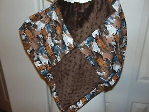 OOK Horses All Over Brown Baby Security Blanket Lovey
