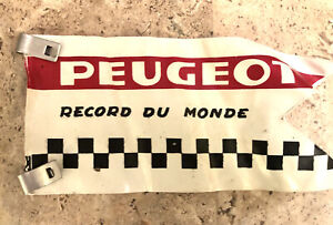 Vintage 1970s Peugeot Bicycle Showroom Flag