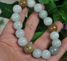 100% Natural A JADE JADEITE Bead Beads Bangle Bracelet 12 mm 0365