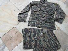 US Army Feldjacke Vietnam Tiger Stripe Suit R/S Feldjacke Feldhose Erdl SW Gr L