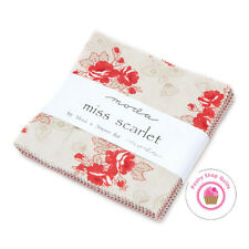 """Moda MISS SCARLET Minick & Simpson Quilting CHARM PACK 42- 5"""" squares"""