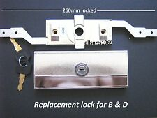 Garage roller door lock brand new B & D Gliderol replacement chrome 2 keys
