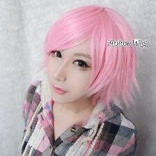 NEW pastel  Pink Short Layered Fashion Stylish Women Cosplay Anime Hair Wig