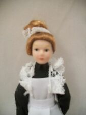 "Porcelain Doll Victorian Maid dollhouse miniature  1"" scale  1pc G7616"
