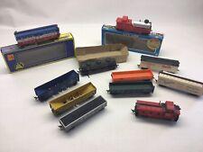 Vintage Lot Of 11 Ho Scale Freight Cars- Lifelike, Mrc, Roco ,Ahm, Marx