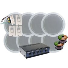 "NEW Pyle KTHSP86 4 Room In-Ceiling 6"" Home Speaker/Volume-Selector Control/Wires"